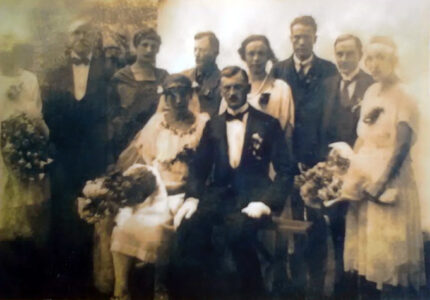 Тарас Франко і Катерина Фалькевич у день весілля